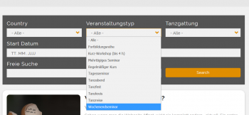 Screenshot: Suche - Dropdown